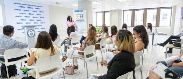 El Consulado de Colombia en Newark realizó el primer encuentro de mujeres emprendedoras