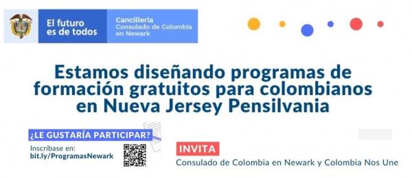 Consulado de Colombia en Newark invita a los ciclos de formación y cursos gratuitos
