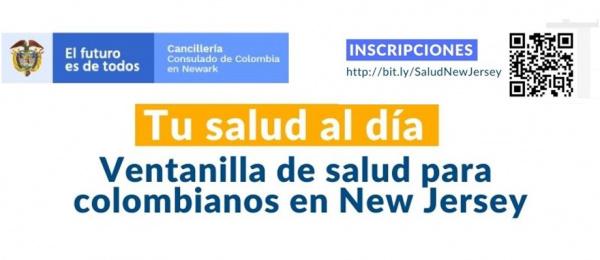 Consulado de Colombia en Newark invita a los colombianos a inscribirse para recibir asistencia en salud básica