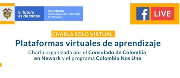 """Consulado de Colombia en Newark realizará charla virtual """"Plataformas virtuales de aprendizaje"""" el 15 de mayo de 2020"""