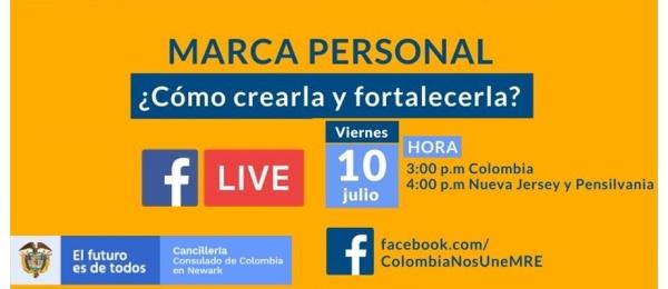 Consulado de Colombia en Newark realizará el Facebook Life Marca Personal ¿Cómo crearla y fortalecerla?