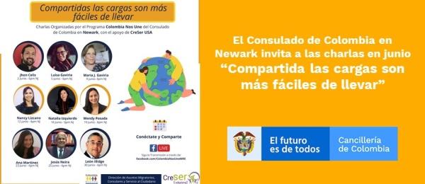 El Consulado de Colombia en Newark invita a las charlas en junio