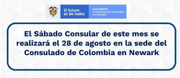 El Sábado Consular de este mes se realizará el 28 de agosto en la sede del Consulado de Colombia