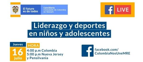 Este jueves 16 de julio el Consulado de Colombia en Newark realizará la conferencia Liderazgo y deportes