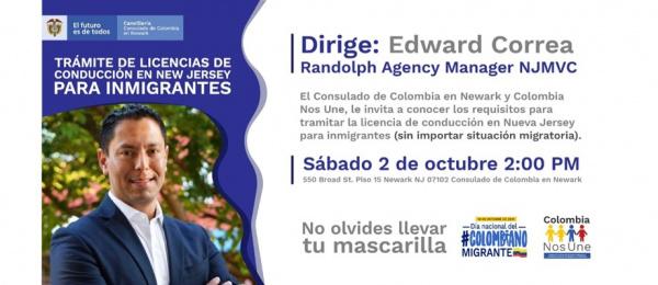Este sábado 2 de octubre conozca los requisitos para tramitar la licencia de conducir para inmigrantes, conferencia organizada por el Consulado de Colombia