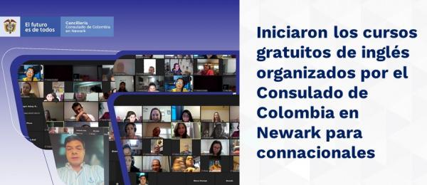 Iniciaron los cursos gratuitos de inglés organizados por el Consulado de Colombia en Newark