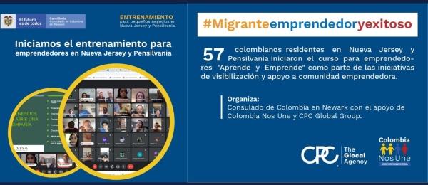 """Más de 50 colombianos residentes en Nueva Jersey y Pensilvania iniciaron el curso para emprendedores """"Aprende y Emprende"""""""