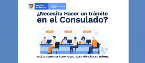 Conozca cómo realizar trámites en el Consulado de Colombia en Newark, en septiembre de 2021
